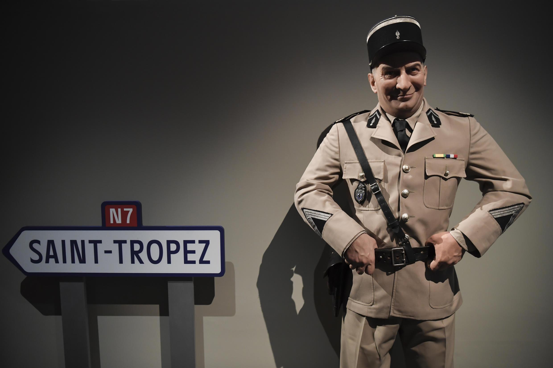 Восковая фигура Луи де Фюнеса в образе жандарма Крюшо из музея Гревен на выставке в Синематеке