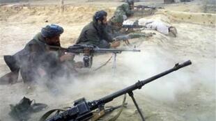 Taliban fighters in the Afghan region of Ghor.