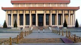 """位於北京天安門廣場的""""毛主席紀念堂"""""""