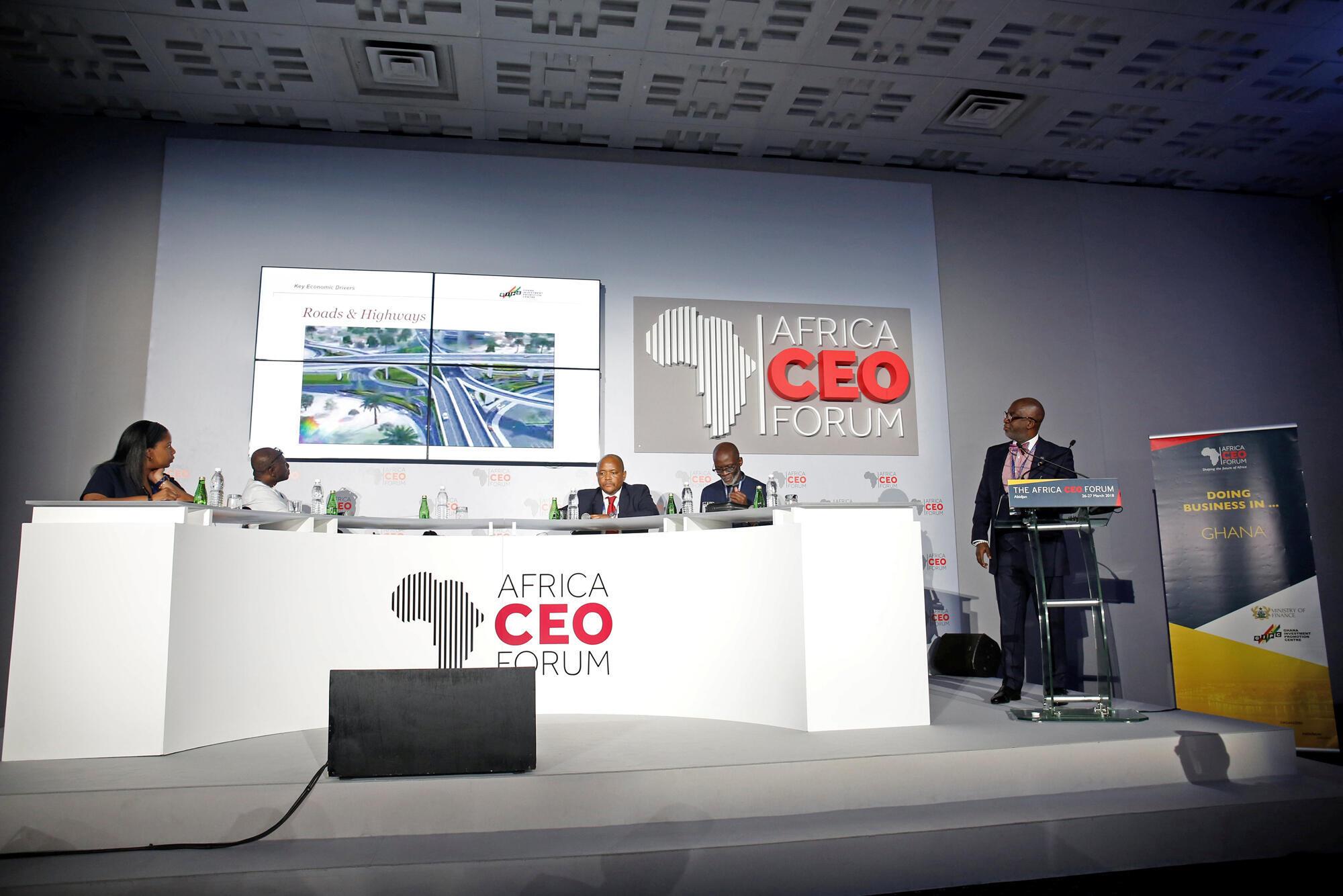 Des participants à la 6e édition d'Africa CEO Forum qui s'est tenue à Abidjan, en Côte d'Ivoire.