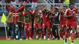 Timu ya taifa ya Congo (Mashetani Wekundu) wakati wa michuano ya AFCON 2015.