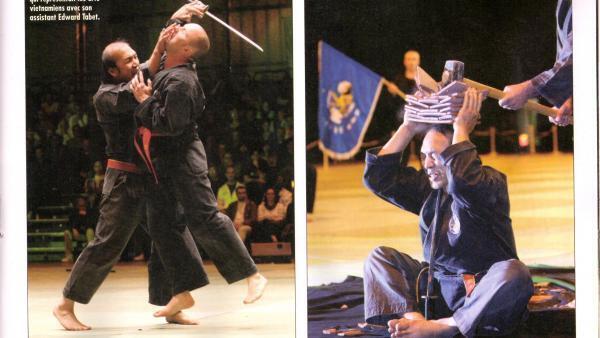 Một số màn biểu diễn của võ sư Phan Toàn Châu tại cung Bercy.