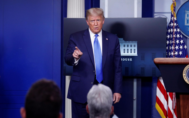特朗普在白宫的新闻发布会上,2020年9月23日。