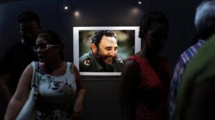 古巴首都哈瓦那慶祝卡斯特羅90歲壽辰的展覽:菲德爾