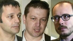 Os três arguidos do caso Luxleaks