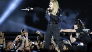 Madonna performs at the Stade de France on Bastille Day