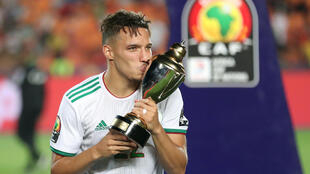 Ismael Bennacer played in all of Algeria's games at the Africa Cup of Nations in Egypt.