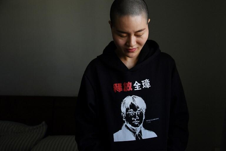 Li Wenzu, wife of lawyer Wang Quanzhang, who was sentenced to four and a half years in prison on January 28, 2018