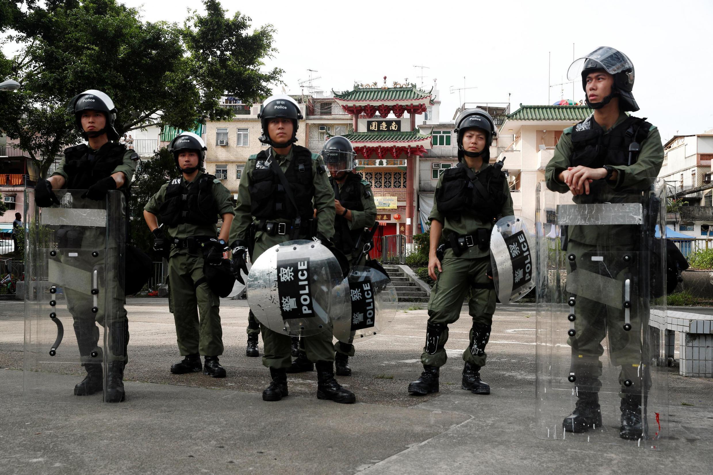 正在执勤的香港警察 2019你啊7月27日