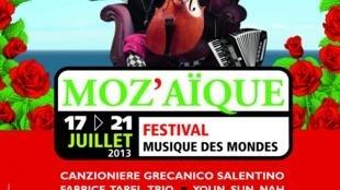Afiche del festival Moz'aïque 2013