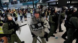 沙田警民衝突中香港警察資料圖片