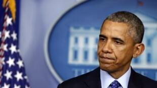 Le président Barack Obama lors d'une conférence de presse sur l'Irak, le 19 juin 2014.