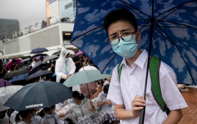 Học sinh bãi khóa để tham gia phong trào phản kháng tại Hồng Kông ngày 02/09/2019.