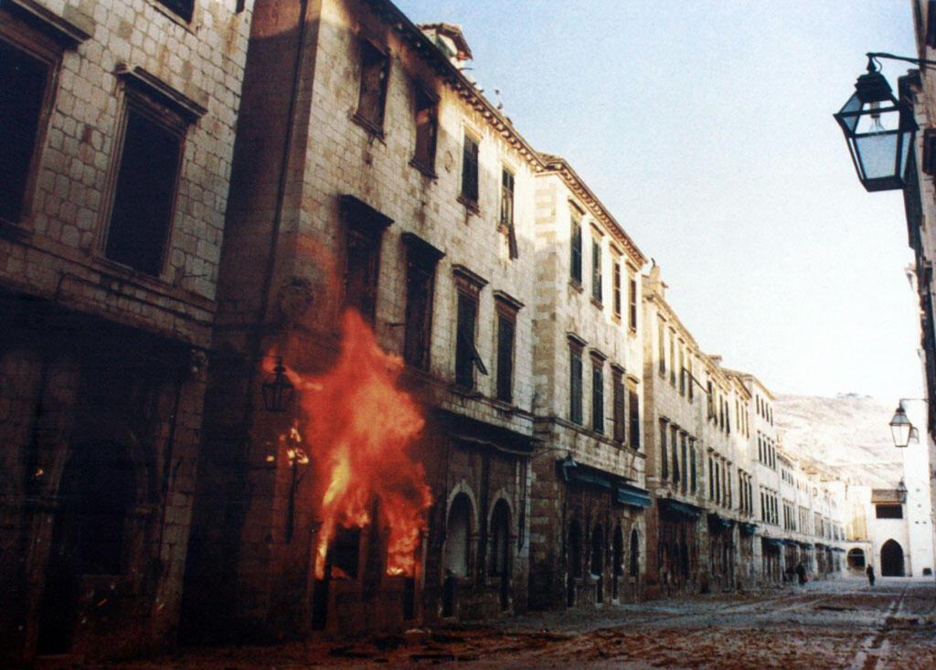 Dubrovnik bombardée fin 1991.