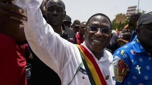 (Illustration) Le leader de l'opposition malienne, Soumaïla Cissé lors d'une marche en septembre 2018 à Bamako.