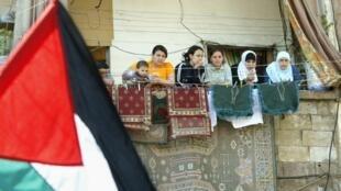 Un des camps de réfugiés palestiniens de Sabra et Chatila, à Beyrouth, en 2005.