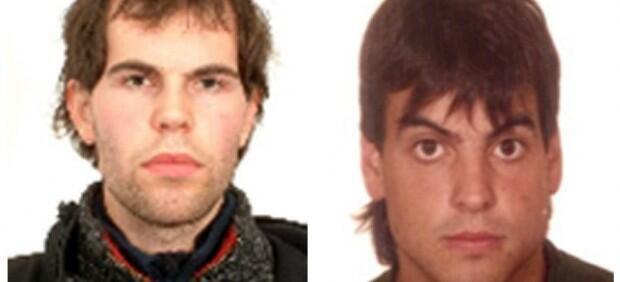 Alleged Eta activists Oier Ibarguren Sarasola (L) Montxo Arkaiz Varea Echevarría (R)