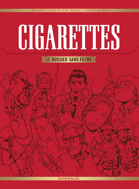 Détail de la couverture de la bande dessinée «Cigarettes le dossier sans filtre», de Pierre Boisserie et Stéphane Brangier.