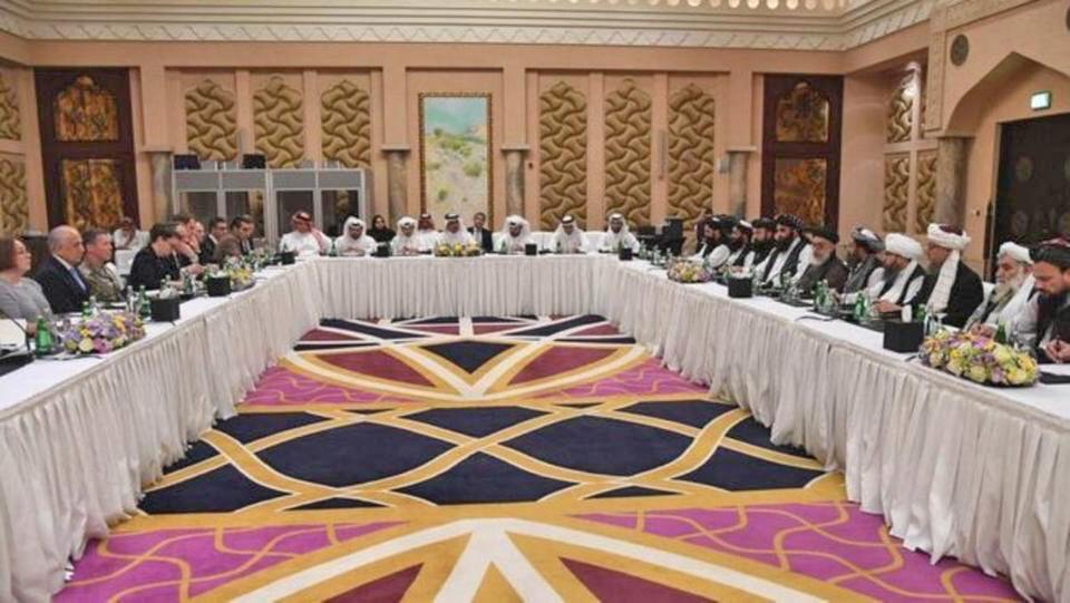"""به گفته طالبان، در این دور گفتگوهای صلح افغانستان در قطر، دو طرف مذاکره، در مورد """"جزییات و ماهیت"""" خروج نیروهای بینالمللی از افغانستان و عدم استفاده از خاک این کشور بر ضد کشورهای دیگر، گفتگو میکنند."""