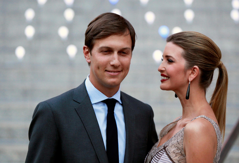 Джаред Кушнер с женой Иванкой Трамп, 2012 г.