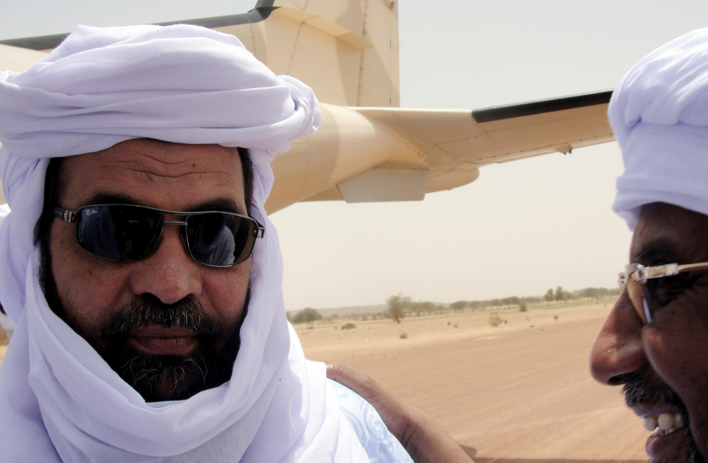 Iyad ag Ghali, leader d'Ansar Dine, le 7 août 2012 à Kidal.