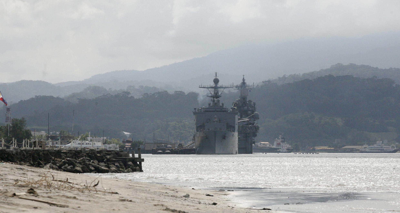 Một tàu chiến Mỹ ghé vịnh Subic của Philippines. Ảnh chụp ngày 14/10/2014.