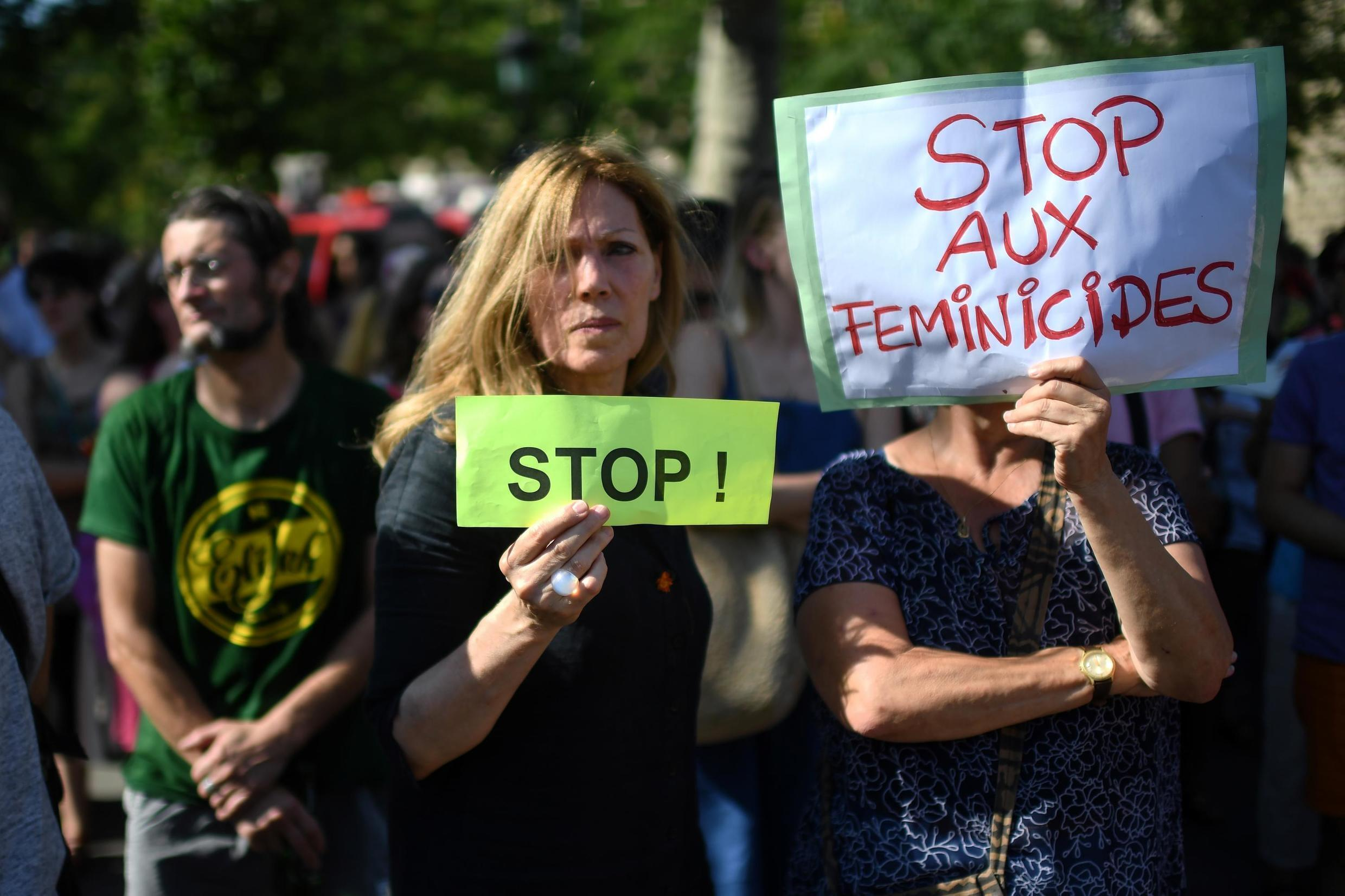 Protest demanding more be done to protect violence against women in Paris, July 6th, 2019