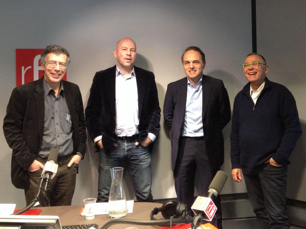 De gauche à droite : Guillaume Duval, Stephan De Vries, Yves Bertoncini et Daniel Desesquelle.