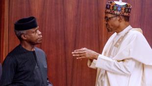 Yemi Osinbajo tare da mai gidansa, shugaban Najeriya Muhammadu Buhari