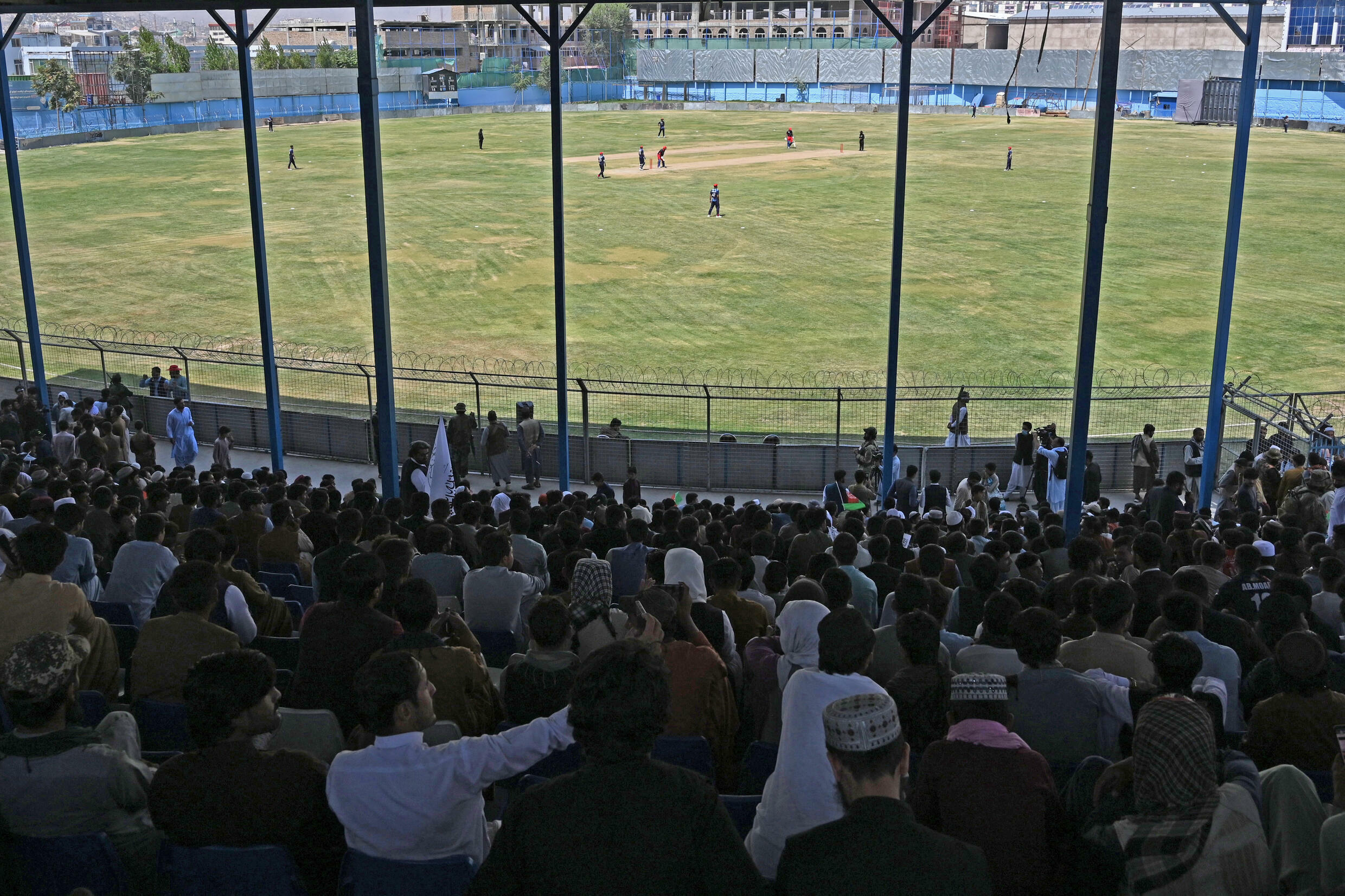 Hardline Islamists have shown they do not mind men playing cricket in Afghanistan, pulling together a match in the capital Kabul shortly after foreign forces withdrew