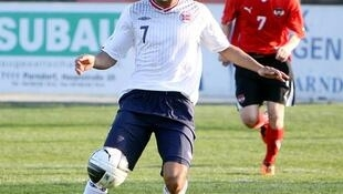 Harmeet Singh when he was playing in the Norway national under-21 football team
