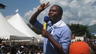 Alexis Sinduhije à Bujumbura, le 11 avril 2010.