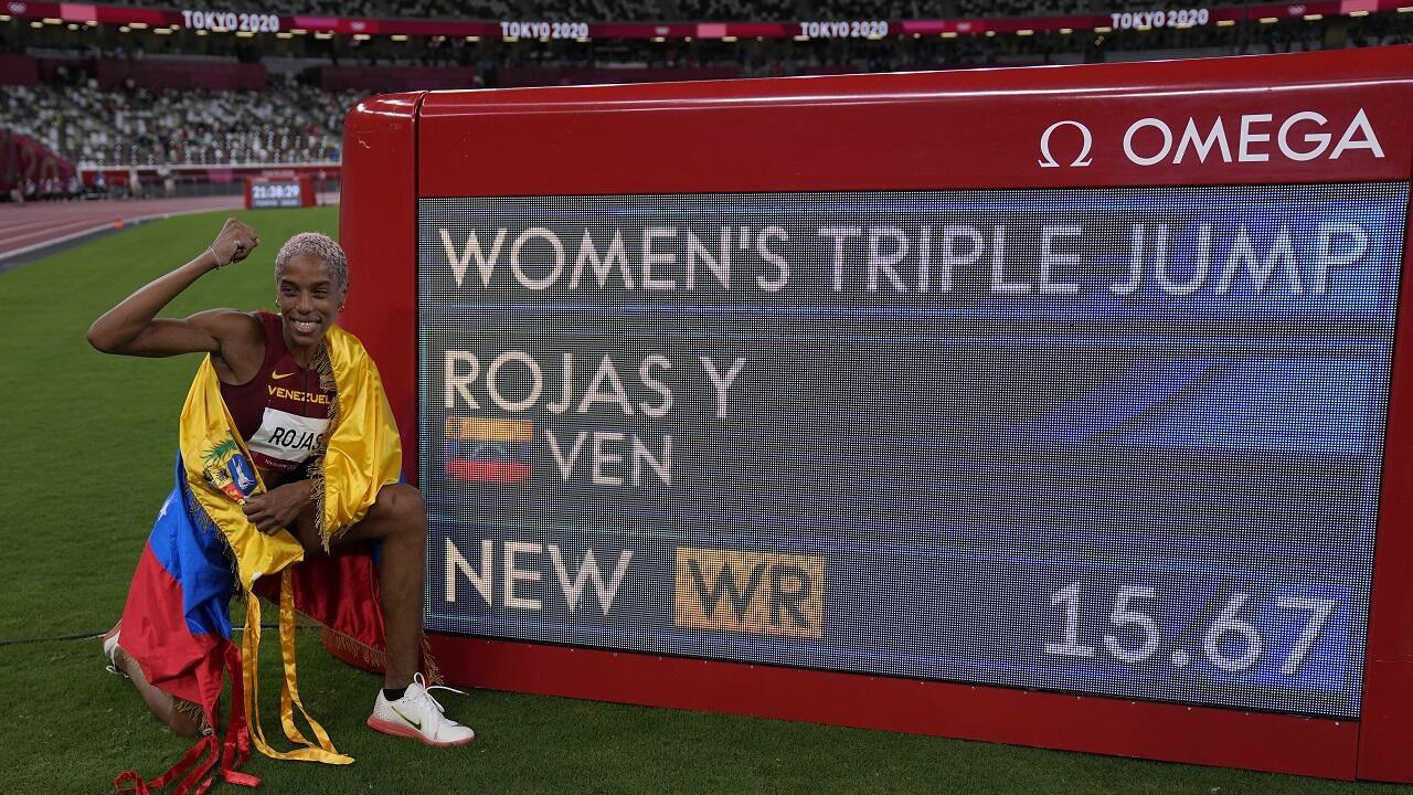 PHOTO Yulimar Rojas - Record du monde à Tokyo