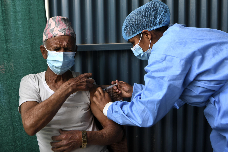 Nepal began its coronavirus vaccination drive with AstraZeneca