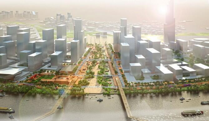 Dự án quy hoạch công viên bờ sông  Thủ Thiêm