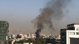 Une attaque a visé le convoi d'Amrullah Saleh dans le centre de Kaboul, le 9 septembre 2020.
