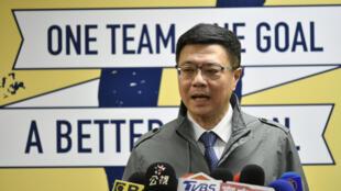 Cho Jung-tai, président nouvellement élu du Parti progressiste-démocrate (PDP) au pouvoir, prend la parole lors d'une conférence de presse au siège du parti à Taipei, le 6 janvier 2019.