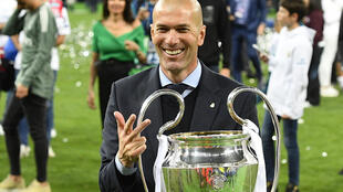 Real Madrid coach Zinédine Zidane guided the club to a hat-trick of Champions League crowns between 2016 and 2018.