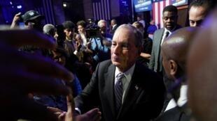 Le milliardaire Michael Bloomberg lors d'un meeting à Houston au Texas le 13 février 2020.