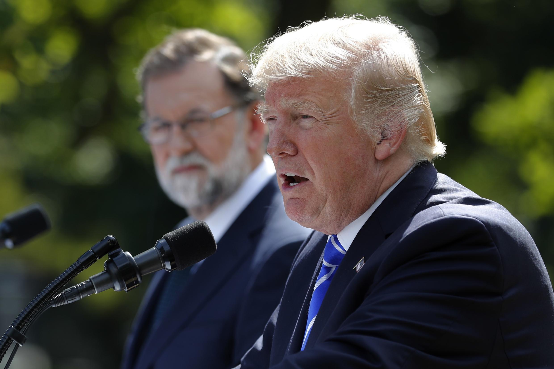 Rajoy y Trump en la rueda de prensa conjunta en la Casa Blanca, 26 de septiembre.