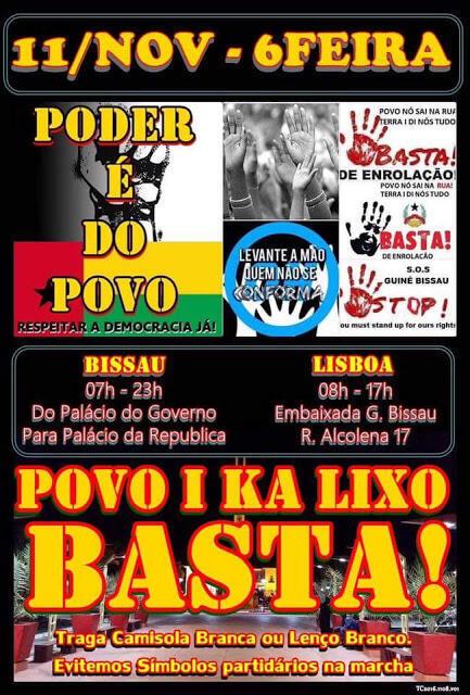 Manifestação Bissau 11 Novembro 2016