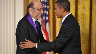 President Barack Obama awarded graphic designer Milton Glaser with the National Medal of Arts at the White House on February 25, 2010