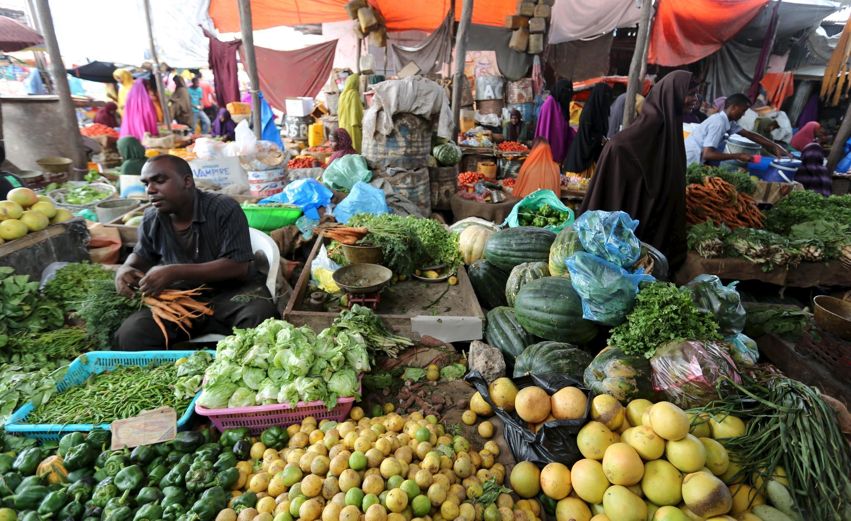 An baje Kayan gona a kasuwa a lokacin Azumin Ramadana a Somalia