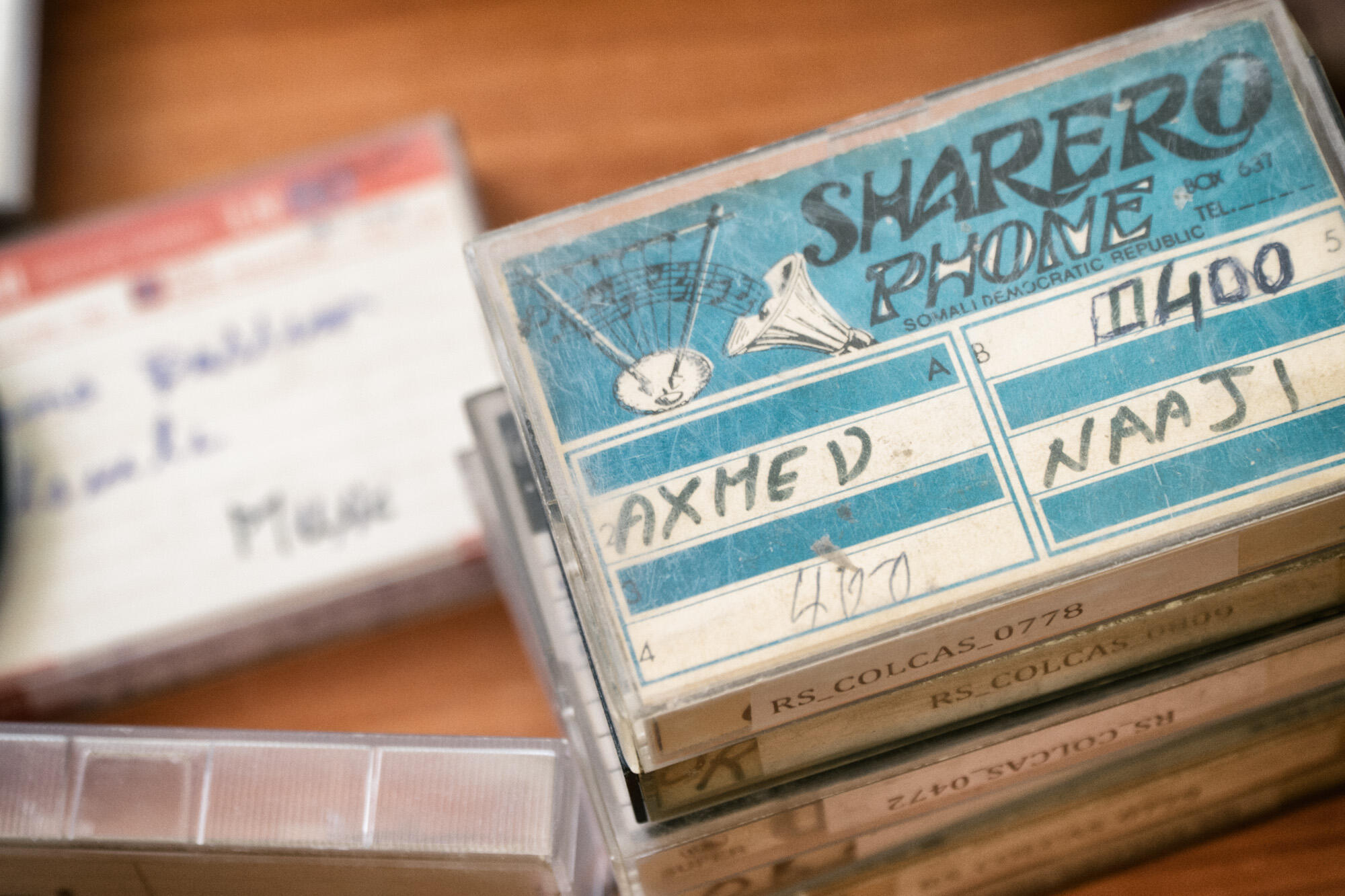 Cassette of Somali music, from the Red Sea Cultural Foundation archives, Hargeisa