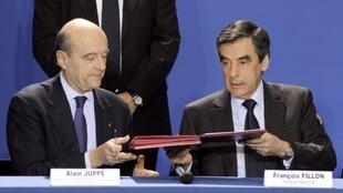 Alain Juppé (g.) rencontrera ce mercredi 22 février François Fillon pour aborder la campagne du candidat Les Républicains.