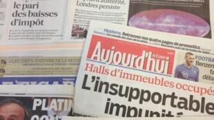 Primeiras páginas diários franceses 21/03/2013