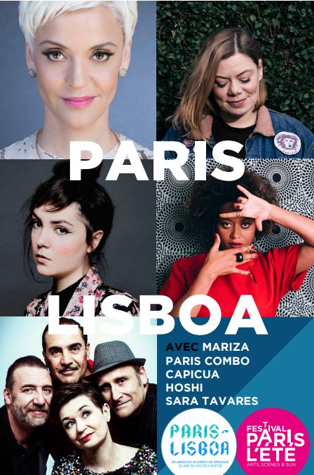 Cartaz do concerto Paris Lisboa