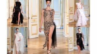 La diseñadora Pastuna presentó su colección de Alta Costura, otoño-invierno 2018, en la Maison des Centraliens. París, 2 de julio de 2018.