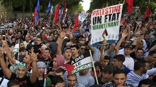 La manifestation du 23 juillet pour la paix en Palestine s'est déroulée sans heurts, ici à Paris.