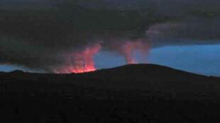 Le volcan Nyamulagira, situé à 22 km de la ville de Goma dans l'est de la République démocratique du Congo.